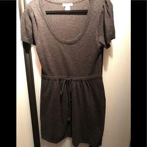 Vertigo Paris grey sweater dress.Soft short sleeve